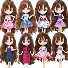 Fashion Mini Dress Mix Style Dress Evening Party Skirt Casual Wear Cute Clothes for Blythe