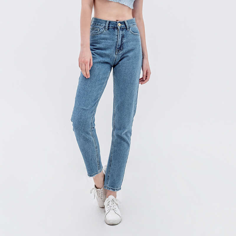 luckinyoyo jean woman mom jeans pants boyfriend jeans for women with high waist push up large size ladies jeans denim 2019