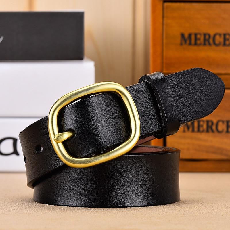 DINISITON, женский ремень, натуральная кожа, ремни для женщин, женский, золотой, с пряжкой, ремень, необычный, винтажный, для джинсов, Прямая поставка - Цвет: Gold Black