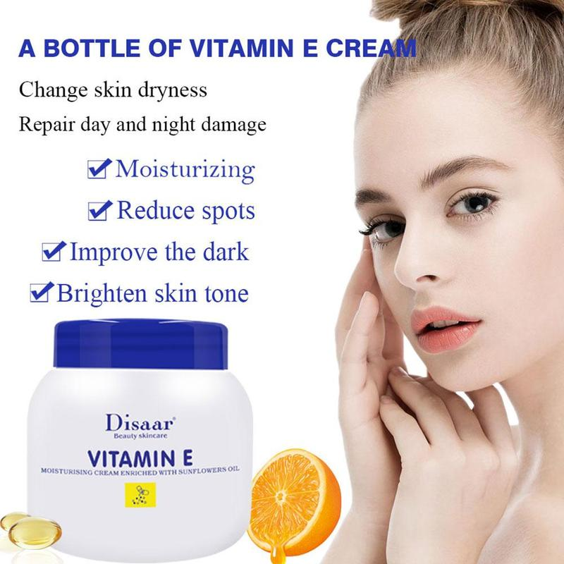 Vitamin E Cream With Evening Primrose Oil 200ml Lock In Moisture Deep Within Skin Help To Soften And Smooth Dry Skin Cream