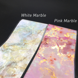 100cm Pink Marble Nail Foil St