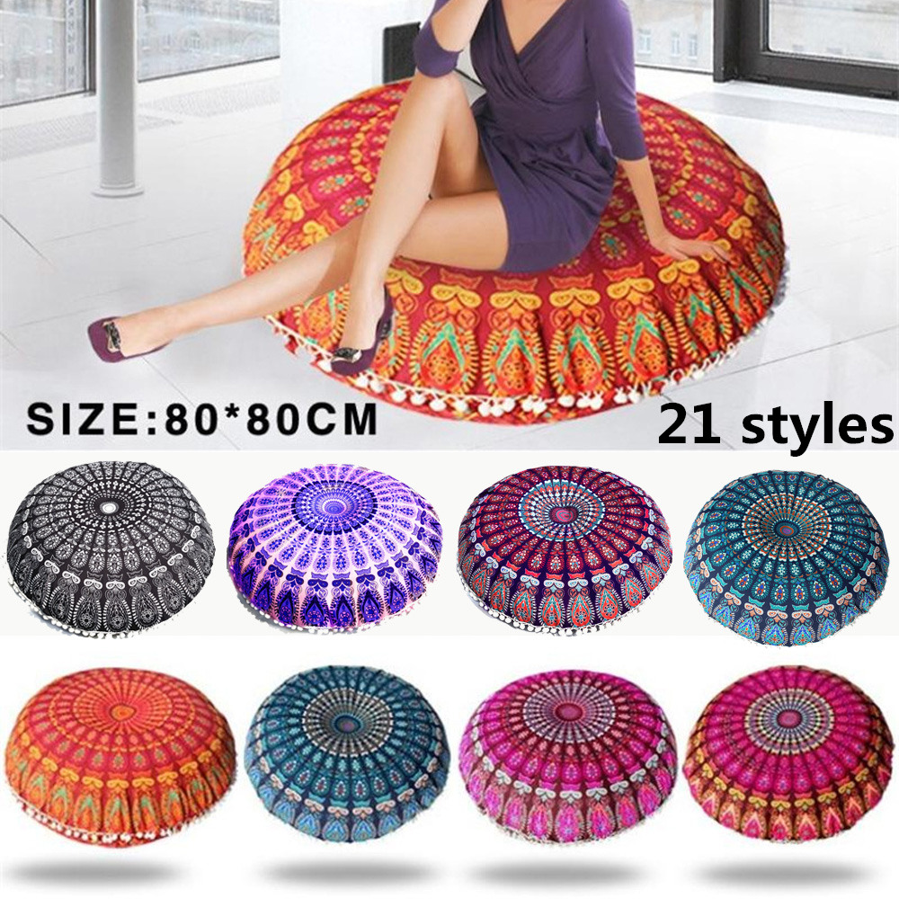 Floor Pillows Oreillers Round Bohemian