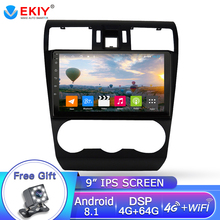 EKIY 9» 2.5D Android 8.1 Car Radio GPS Multimedia Player 4G+64G Octa Core For Subaru WRX Forester 2016-2018 Navigation 2DIN DVD