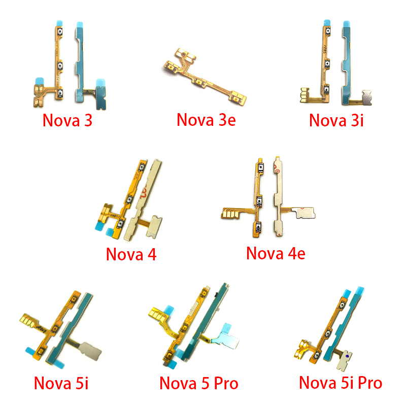 Power On Off Volume Side Button Key Flex Cable Replacement Parts For Huawei Nova 2 Plus 2S 3 3i 3e 4 4e 5 5i Pro