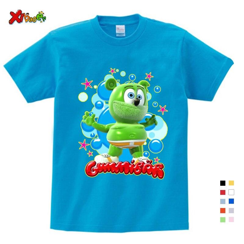Boys Tshirts Size 3-9T Baby Boys Girl Gummy Bears T Shirt Cartoon Funny Casual Kids Clothes Summer Harajuku Children's Clothing