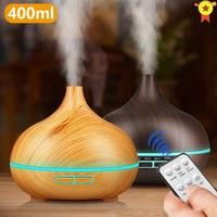 400ml Fernbedienung Air Aroma Ultraschall-luftbefeuchter Led-leuchten Xiomi Elektrische Aromatherapie Ätherisches Öl Diffusor für home