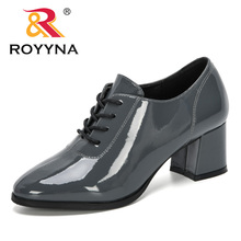 ROYYNA 2020 New Designers Women Pumps Microfiber High Heel Shoes
