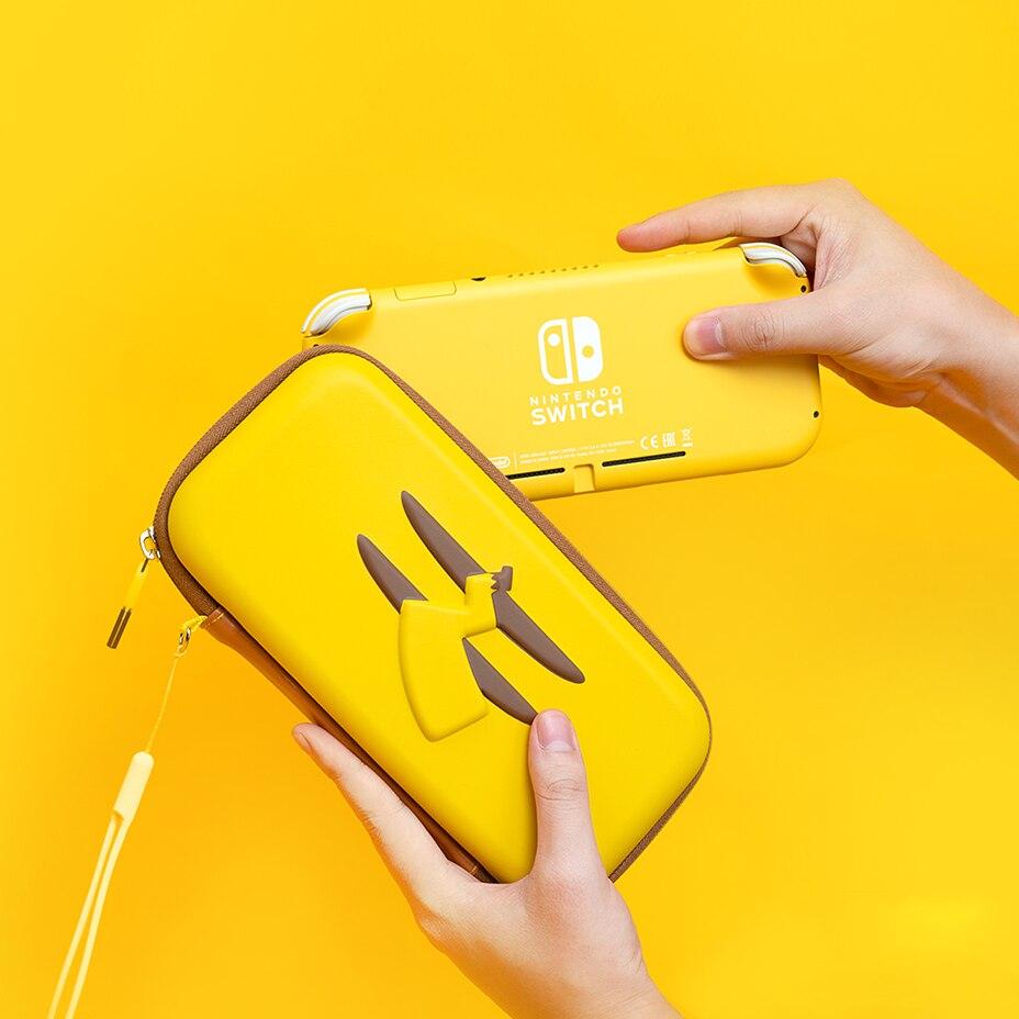 Para Nintendo Switch Lite bolsa de almacenamiento NS Switch Lite Mini funda protectora de silicona para nintendo switch Lite Accesorios Bolsa de almacenamiento de pata de rana de datos para Nintendo Switch/Switch Lite Console estuche portátil de transporte para accesorios de juego NS Lite