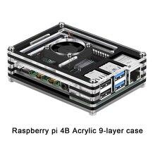 Raspberry pi caso 4B nuovo 9 Strati Caso progettato per Raspberry Pi 4 Modello B