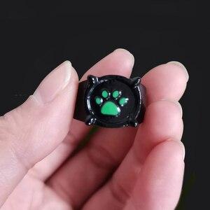 Аниме черные кольца в виде кошки для девочек и мальчиков с изображением героини мультфильма «Леди Баг и супер-зеленый печати эмаль обувь с принтом «кошачий коготь» палец кольцо Косплэй ювелирные вечерние Детские Для мужчин кольца подарок