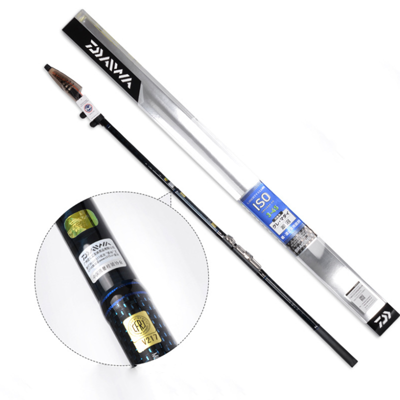DAIWA Telescopic Long Shot Outdoor Flow Fishing Rod Pole Portable  Lake River Fishing Rod Carbon Leurre Fishing Tackle