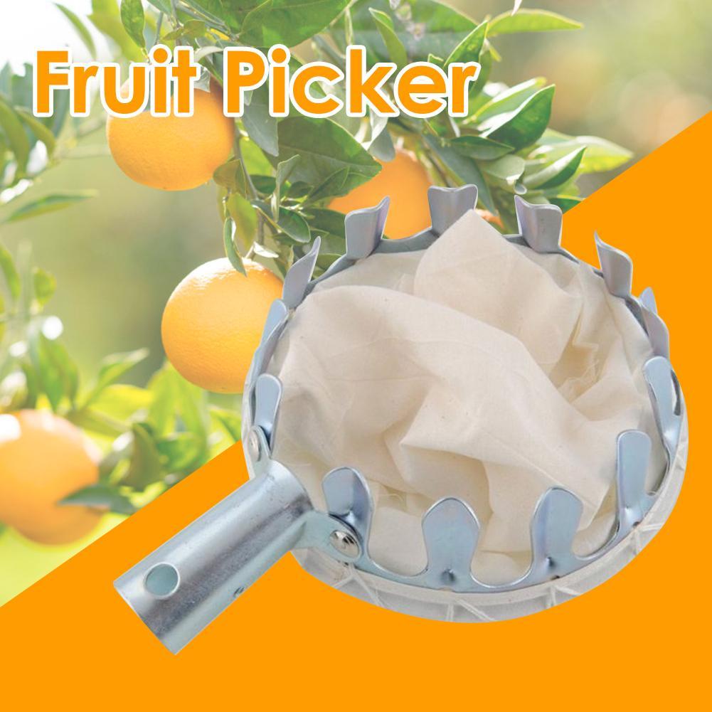 Metal Fruit Picker Orchard Gardening Apple Peach High Tree Picking Tools Fruit Catcher Collector Gardening Tools