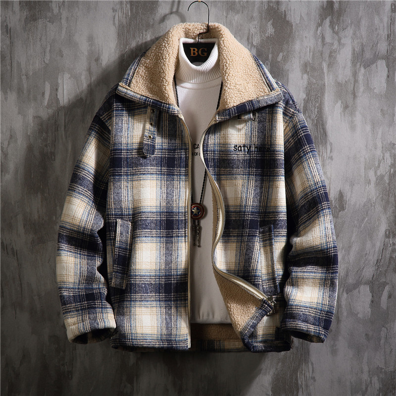 2019 UYUK New England Winter Leisure Joker Thickening Lambs Wool Coat Loose Big Yards Cotton-padded Clothes For Men Homme
