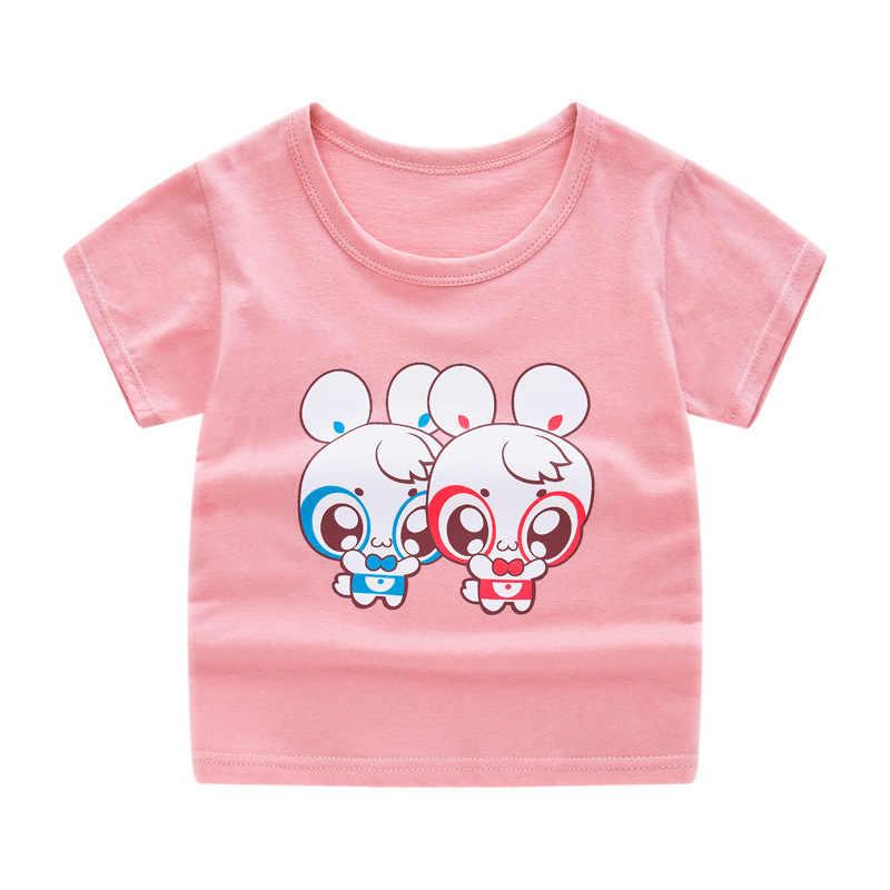HIPAC Per Bambini Manica Corta T-Shirt In Cotone T-Camicette Ragazzo Del Capretto Ragazzi E Ragazze Magliette E Camicette Camicette Maglietta dei bambini