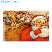 christmas santa claus Moge Diamond Painting Full Round portrait toy gift New DIY Toy sticking drill cross embroidery 5D simple