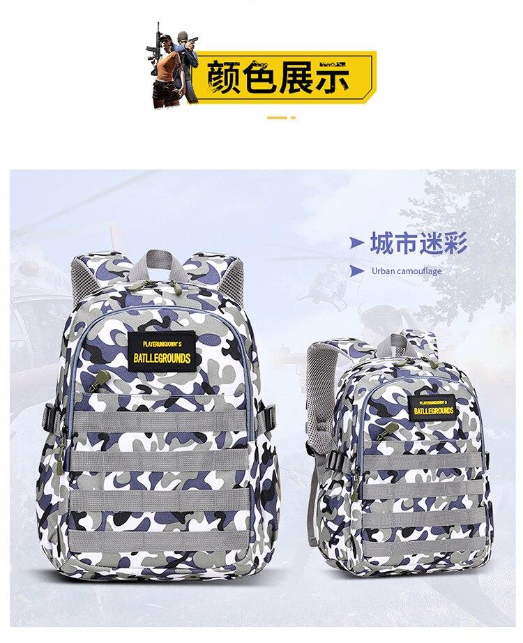Crianças camuflagem mochila sacos de escola meninos