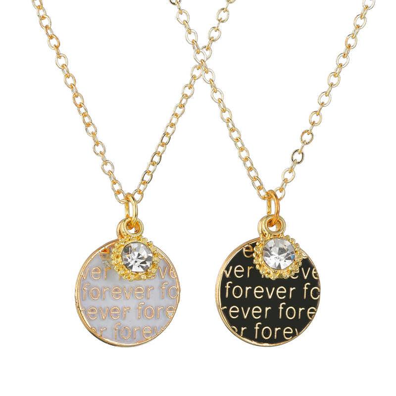 Klasik İlk mektubu kolye altın harfler uzun Charm kolye kolye CZ altın takı kişiselleştirilmiş kolye takı