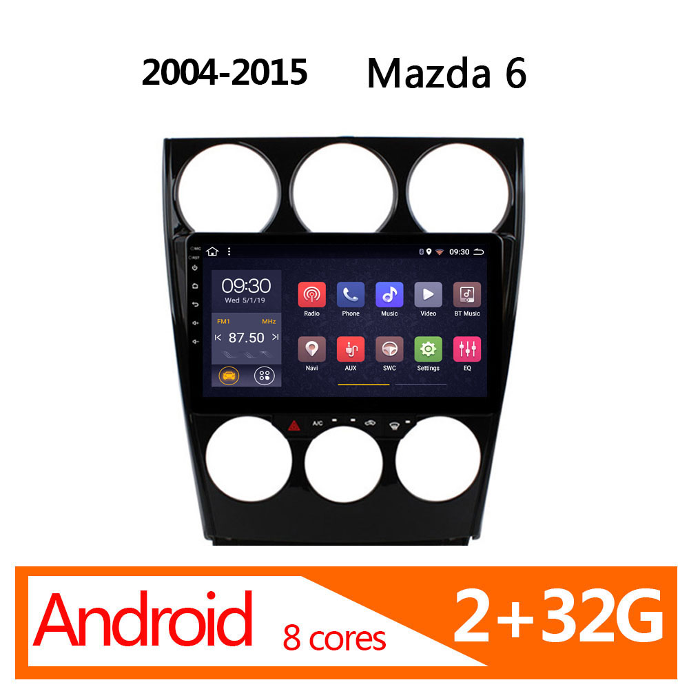 car multimedia for Old <font><b>Mazda</b></font> <font><b>6</b></font> android 2+32G 8 core 2004 2005 2006 2007 2008 2015 radio coche parktronic autoradio atoto FM image