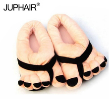 New Anti-skid Winter Warm Women With Cute Five-finger Lovers Shoes Toe Big Feet Cartoon Thick all-inclusive with cotton slippers недорго, оригинальная цена