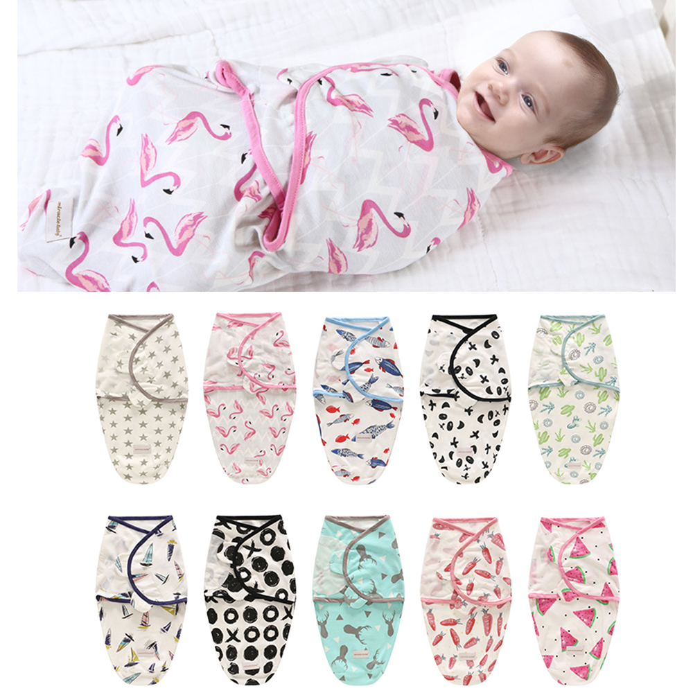 Newborn Baby Sleeping Bag Cotton Stroller Swaddle Blanket Manta Infant Summer Spring Soft Flower Wrap Sleepsack Bedding