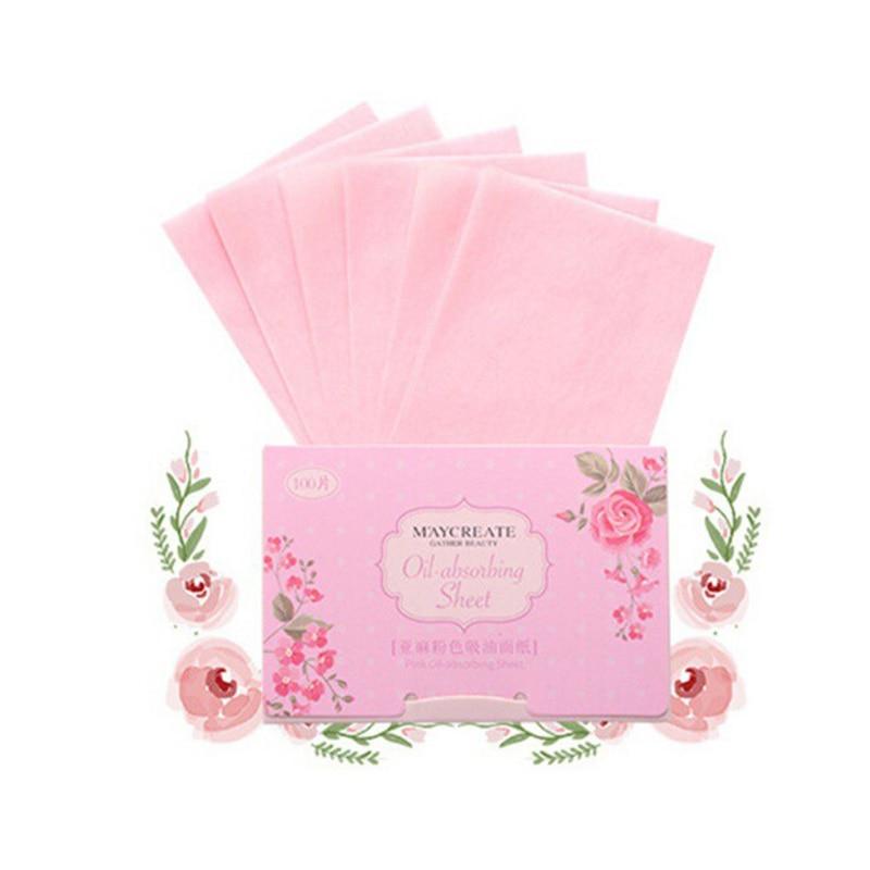 100 штук Очищение лица масло промокающая бумажная маска Макияж Уход за кожей продукты для мужчин и женщин масло промокающие листы - Количество: 05 Linen pink