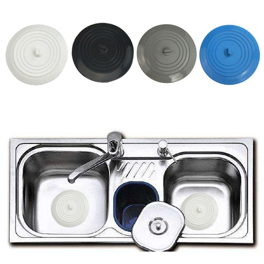 bouchon de vidange universel Bouchon anti-fuites pour lavabo /évier de captage de cheveux bouchon de cuisine Blanc bouchon de cuisine en silicone