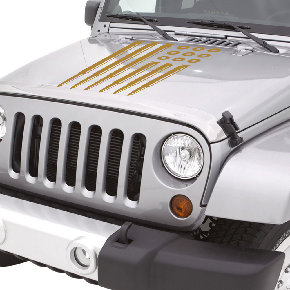 JEEP WRANGLER replacement fender vinyl Decal sticker 1Set color choices TJ XJ JK