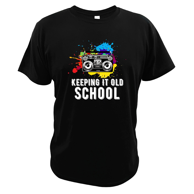Keeping It Old School T Shirt Best Gift Hip Hop Artists Cassettes Tshirt Pure Cotton Breathable Colorful Tee Tops image