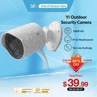 YI outdoor sicherheit kamera 1080p cloud lagerung wifi 2,4G IP cam wetterfeste infrarot nachtsicht motion erkennung hause kameras