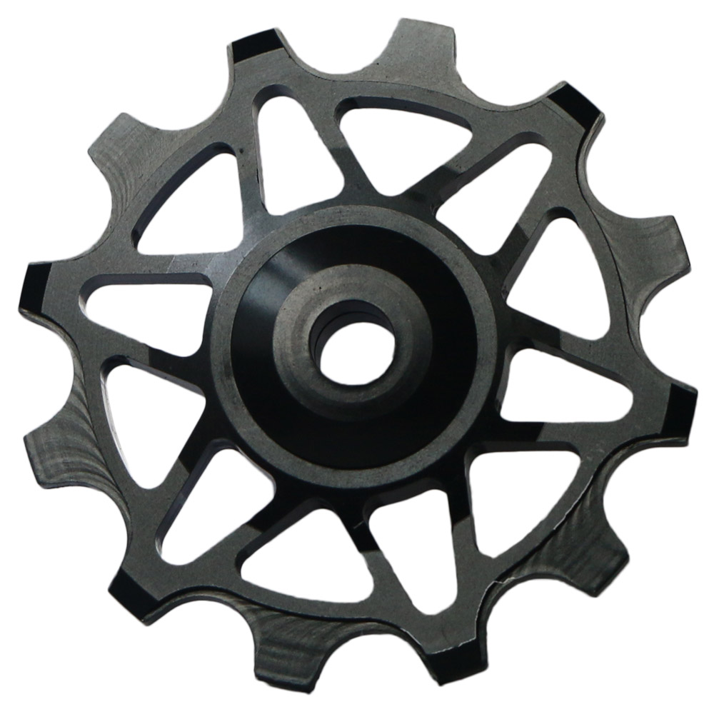 2pcs Bike Narrow Wide Jockey Wheels Ceramic Bearing Derailleur Pulley 12T Black