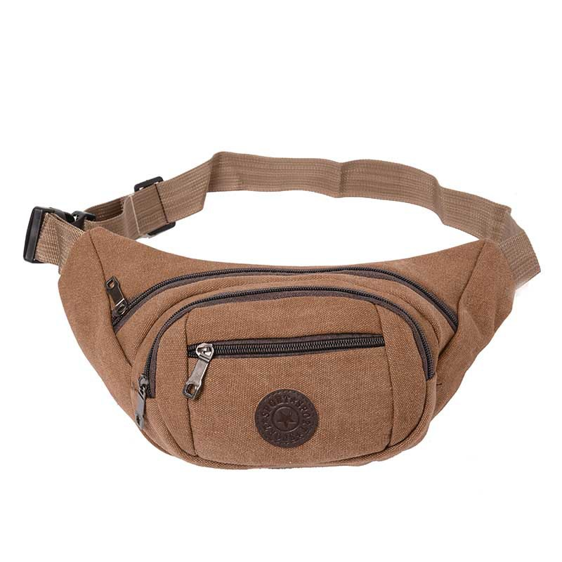 New Style Wearable Canvas Waist Pack Outdoor Washing Shoulder Bag Casual Shoulder Bag Mobile Phone Storgage Bag Customizable Log
