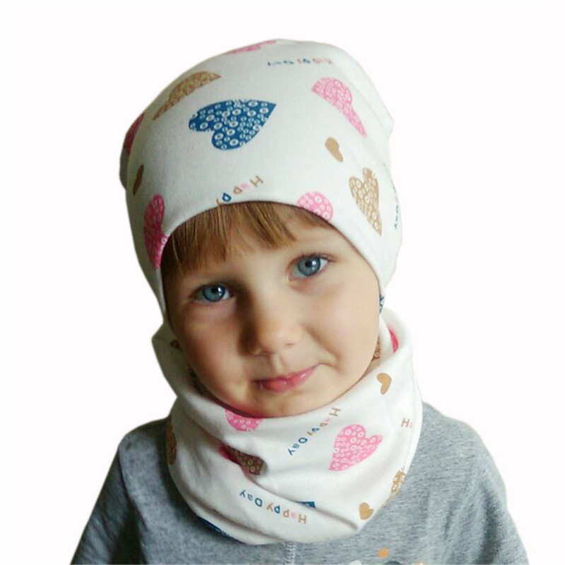 New Spring Autumn Winter Crochet Children Scarf Hat Set Girls Hat Scarf Set New Fashion Boys Child Cap Scarf Set