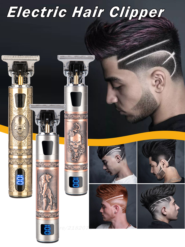 Hair-Trimmer Barber Beard Electric-Hair-Clipper Rechargeable for Men