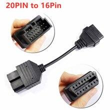 Высокое качество для Kia 20PIN 20 PIN до 16 PIN OBD1 до OBD2 кабель автомобиль Kia диагностический кабель диагностический Connerctor