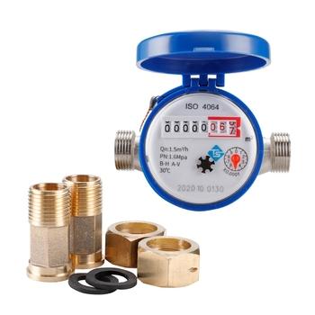 0-30â â Meter miernik zimnej wody mechaniczny obrotowy E-TYPE 1 2 #8221 #8211 3 4 #8243 Qn 1 5m 3 h precyzja 0 0001m3 całkowicie miedziany łącznik LX0D tanie i dobre opinie OOTDTY NONE hydrauliczny CN (pochodzenie) LX0D9FF101271