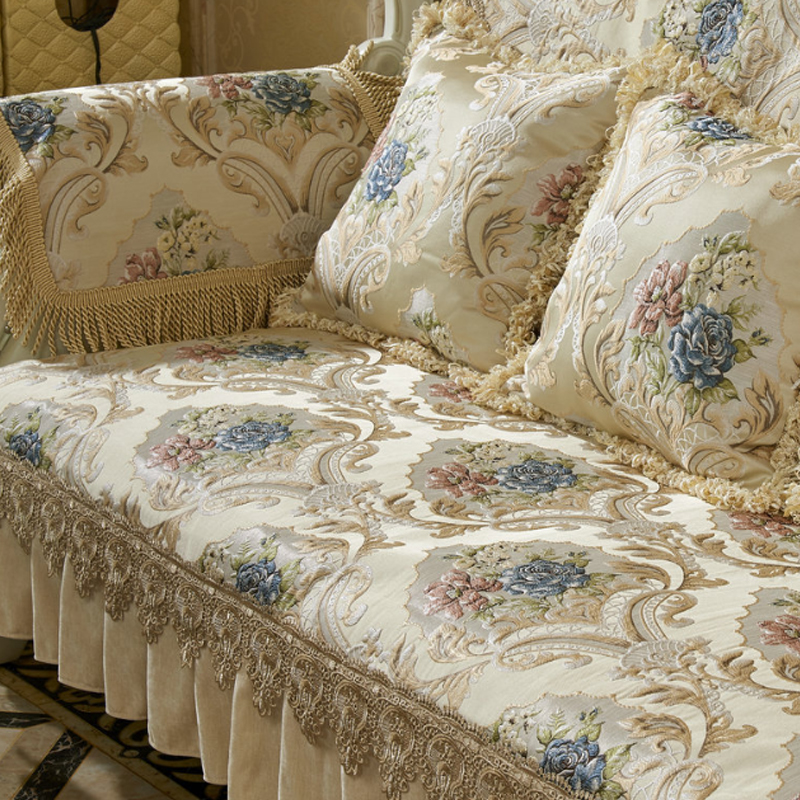 European Luxury Sofa Cushion Cover Four Seasons Univerval Non slip Couch Cover Sofa Covers For Living