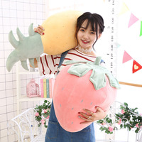 Hot Selling New Style down Cotton Creative Gifts Strawberry Pineapple Pillow Fruit Pillow Doll Birthday Gift