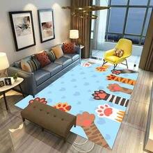 Квадратный нескользящий напольный коврик с котом 3d для столовой