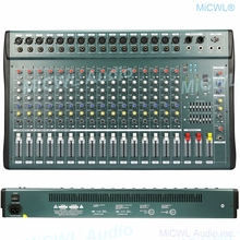 MiCWL 16 Channel Audio Mixer Record Mixing Console USB DSP Effect Professional USB 48V Stereo EQ