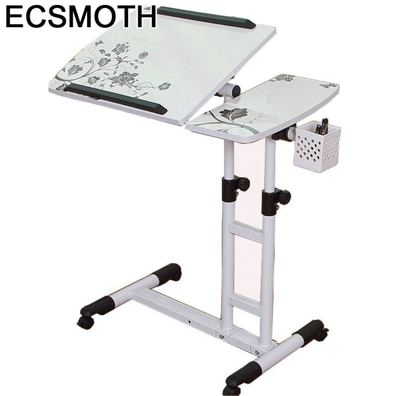 Laptop Small Schreibtisch Escrivaninha Bed Tray Pliante Dobravel Bedside Tablo Mesa Adjustable Study Table Computer Desk