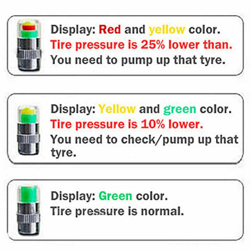 4pcs 2.4 בר 36PSI צמיג לחץ צג לחץ מד שווי חיישן מחוון התראת ניטור 3 צבע עיניים התראת ניטור כלים