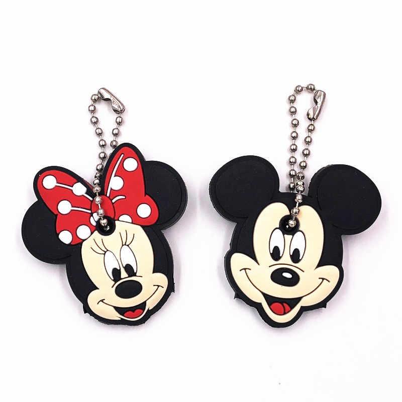 1 pièces Silicone Mickey Minnie Star Wars porte-clés casquette couvre-chef porte-clés coque dessin animé forme belle femmes enfants bijoux cadeau