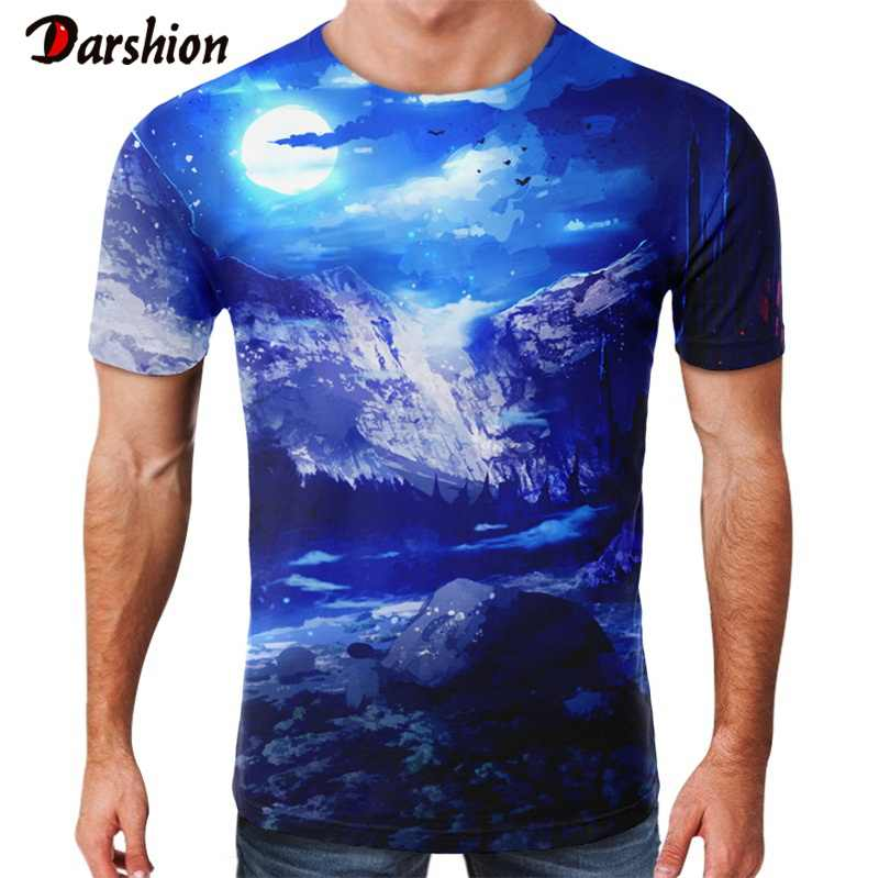 3d Printing T Shirt Men Funny Blue Sky Men Fashion T-shirt Kids Harajuku Summer Cool Tee Funny shirts Homme Tshirt For Friend