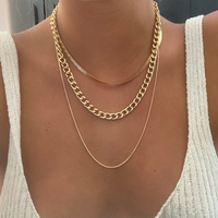 17KM Fashion Asymmetric Lock Necklace for Women Twist Gold Silver Color Chunky Thick Lock Choker Chain Necklaces Party Jewelry 3