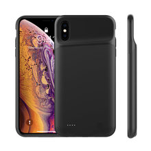 NTSPACE 4000mAh Ultra Slim Silicone Shockproof Battery Case for iPhone XS X Power Bank External Backup Charger