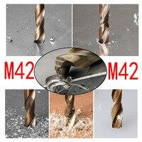 1 bocado de broca da torção do cobalto de hss m42 1mm -13mm usado para a perfuração no aço temperado  no ferro fundido & no aço inoxidável