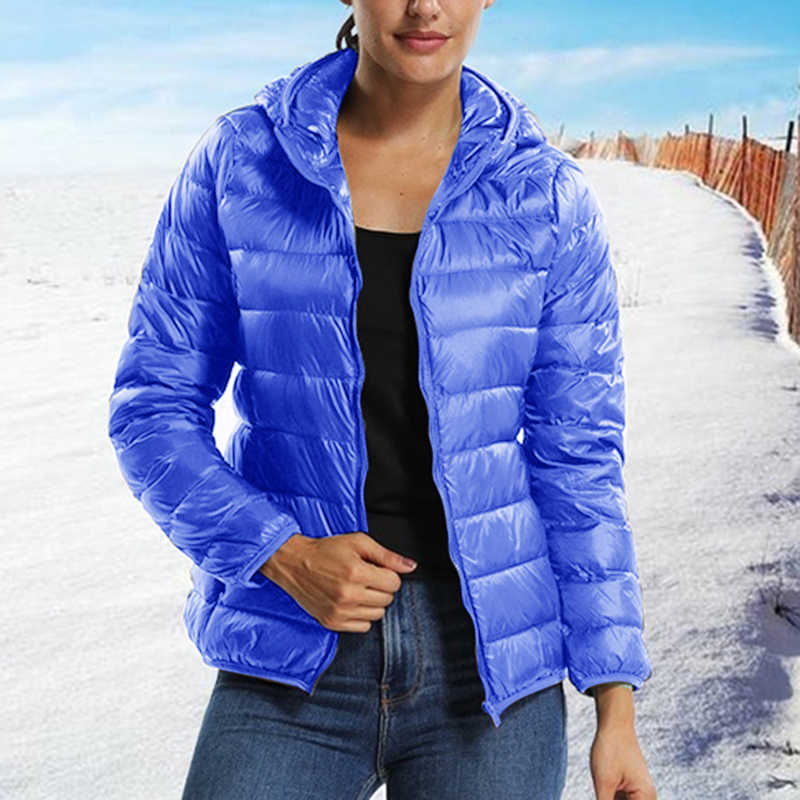 Sfit 2019 カジュアル超軽量ホワイトダックダウンジャケット女性秋冬暖かいコート女性プラスサイズのジャケット女性のフード付きパーカー