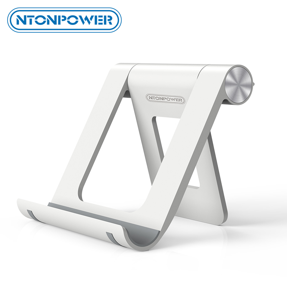 NTONPOWER Phone Stand Holder For IPhone 8 X 7 Tablet Stand 360 Degree Adjustable Mobile Phone Holder Foldable Desk Phone Holder
