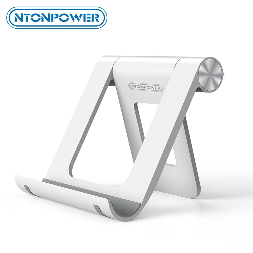 NTONPOWER Phone Stand Holder For IPhone 8 X 7 Tablet Stand 360 Degree Adjustable Mobile Phone Holder Foldable Desk Phone Holder