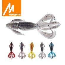 MEREDITH Crazy Flapper-señuelo suave de pesca de 70mm y 90mm, cebos de silicona suave, aparejos de pesca de lubina de camarón